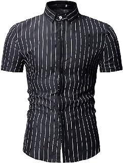 Abetteric Men Fashion Tribal Printed Lapel Fit Short-Sleeve Longshirt
