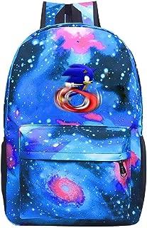 Sonic the Hedgehog Galaxy Backpack Daypack Shoulder Bag Unisex Fashion Rucksack Laptop Travel Bag College Bookbag