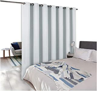 NICETOWN Room Dividers Curtains Screens Partitions, Function Thermal Blackout Patio Door Curtain Panel, Sliding Door Insulated Curtains,Extra Wide Curtains, 8.3ft Wide x 7ft Long, Greyish White