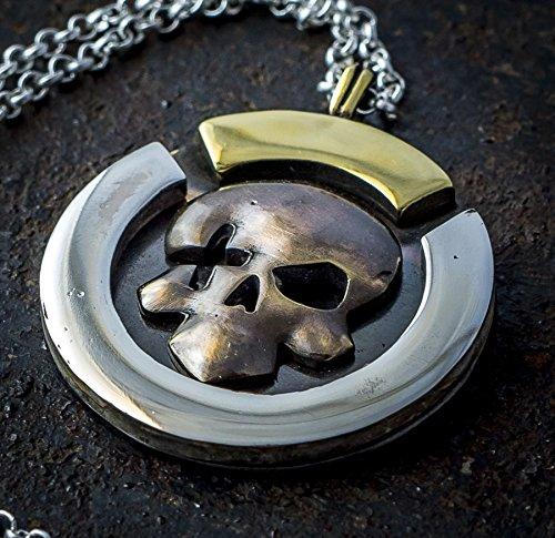McCree Deadeye silver & brass pendant, inspired by Overwatch
