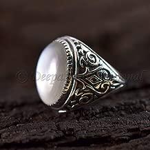 Grey Moonstone Gemstone Ring Solid 925 Sterling Silver Ring Beaded Designer Ring Huge Ring Cocktails Ring Anniversary Ring Natural Grey Moonstone Handmade Ring