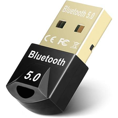 Maxuni Adattatore Bluetooth 5.0 USB, Adattatore USB 5.0 Ricevitore Dongle per PC Laptop Computer, Trasferimento Wireless per Cuffie, Altoparlanti, Tastiera ect, Compatibile con Windows 10/8.1/8/7