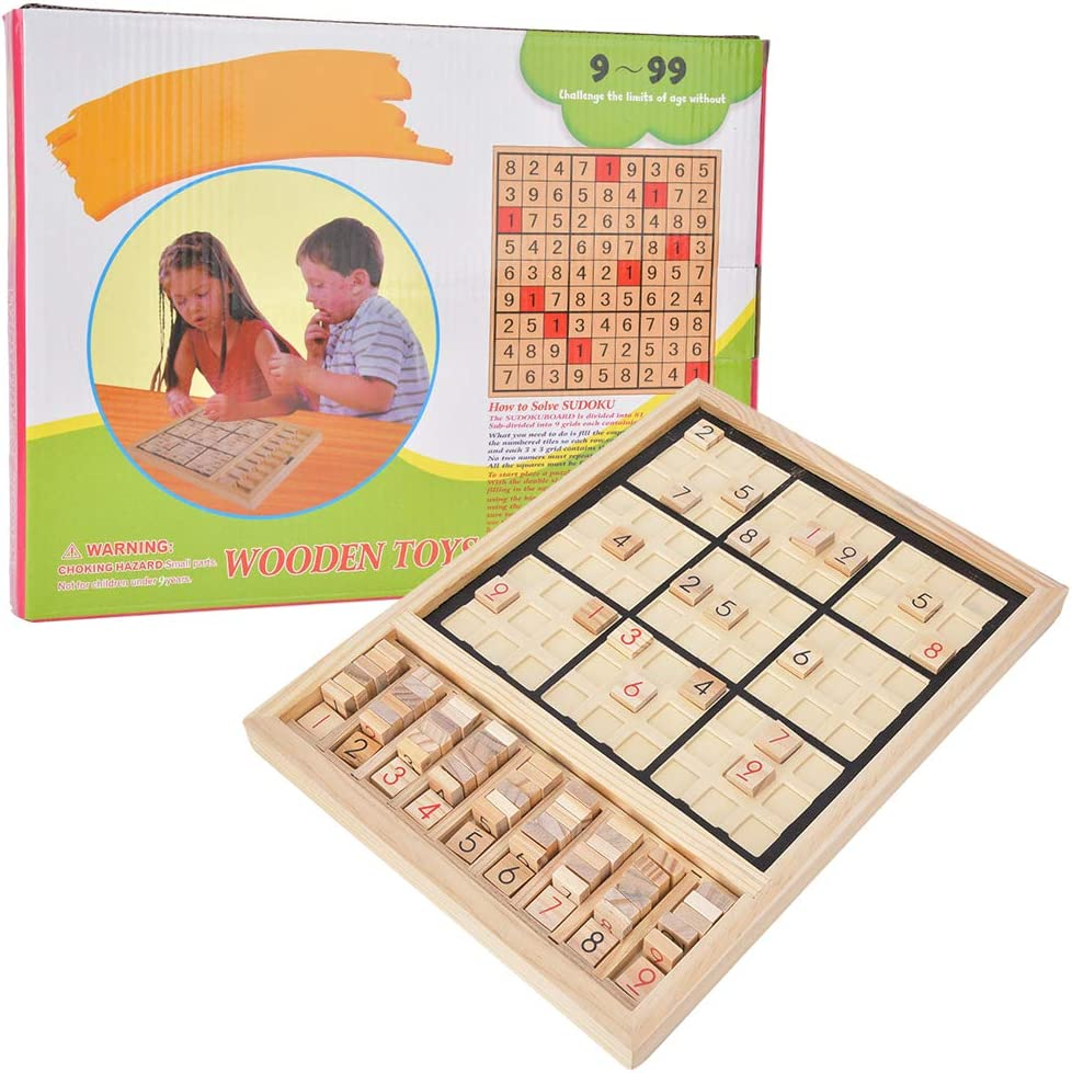 Wooden Sudoku Puzzles 5% OFF Many popular brands Board Game with Drawer Thinking Gam Number