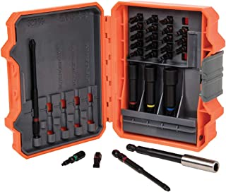 Klein Tools 32799 Impact Driver Bit Set, 26 Piece Nut Driver Bit Set with Case