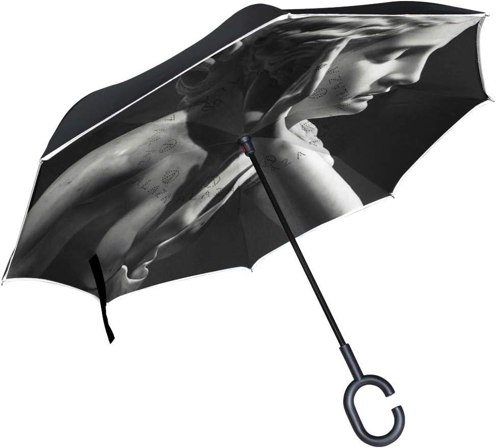 Windproof Max 77% OFF Large Outdoor Umbrella Black Very popular White Patio Art