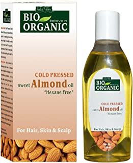 Indus Valley Bio Organic Cold Pressed Sweet almond Oil - 100ml.