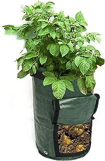 ガーデンニング植え袋 HOOYEE 二つセット7ガロン不織布植木鉢 野菜と里芋とトマトと大根と人参と玉葱の栽培にふさわしい (2個の7ガロン)