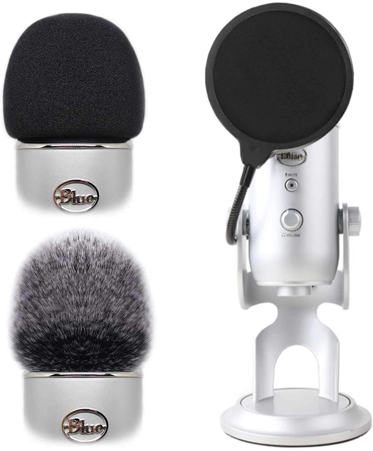 2pcs Professional Microphone Furry Windscreen New item Wind Cover New popularity Mu Foam