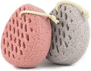 BAIMEI Bath Sponge, Soft Shower Sponge, Loofahs Pouf Gentle Cleaning Body Luffa Sponge (2pcs)