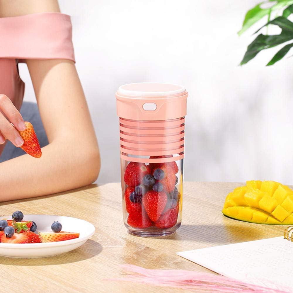 HEWEI Máquina exprimidora Taza de Jugo Mini portátil multifunción de succión magnética USB Carga de Fruta licuadora de Jugo eléctrico Rosa para el hogar Viajes al Aire Libre Pink