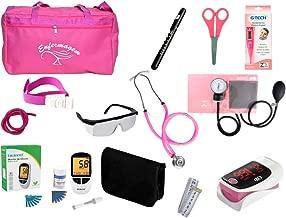 Kit de Enfermagem Super Luxo com Aparelho de Pressão Rosa