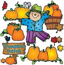 Carson Dellosa – D.J. Inkers Pumpkin Patch Bulletin Board Set, Fall Classroom Décor, 32 Pieces