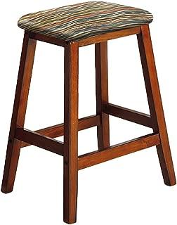 Wood Bar Stool Saddle Seat Style 27