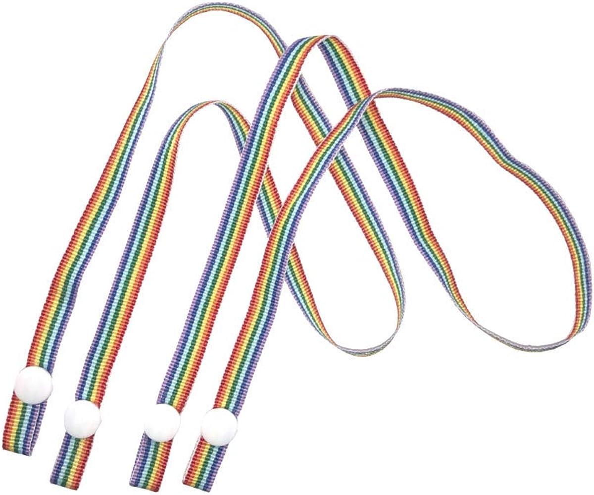 IRIS Fashion Mask Lanyards 2pc Pack - Rainbow Stripes