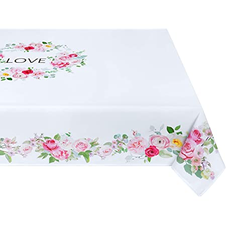 Mother/'s Day Floral Signature Square Tablecloth Assorted Sizes