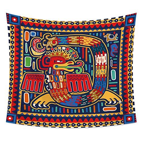 Wandtapijt, kunststof, mandala, Boheemse psychedelisch wandtapijt, voor Thangka-schildering, woonhuis, slaapkamer, deur, kamerdecoratie 30''*40'' A