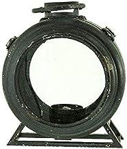 """Renaissance 2000 Measures Metal Lantern, 10"""" L by 12.4"""" H by 6"""" W, Black"""