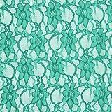 Fabulous Fabrics Spitze grün, Blume, 147cm breit –