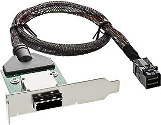 InLine 27656 A SAS 高清内置低剖面PCI插槽支架,带外接电缆(SFF-8088 至 SFF-8643) - 0.5 米