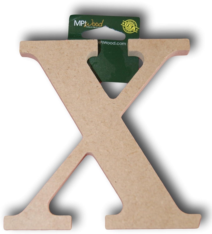 MPI Wood Pressed Wood Initials Wall Decor - 5  Classic X