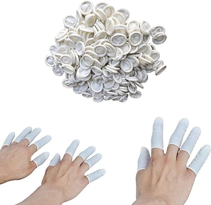 Large,800 Pcs Disposable Finger Covers Anti Static Rubber Fingertips Protective for Electronic Repair,Crafting Industrial Apply ANSLYQA Finger Cots Latex