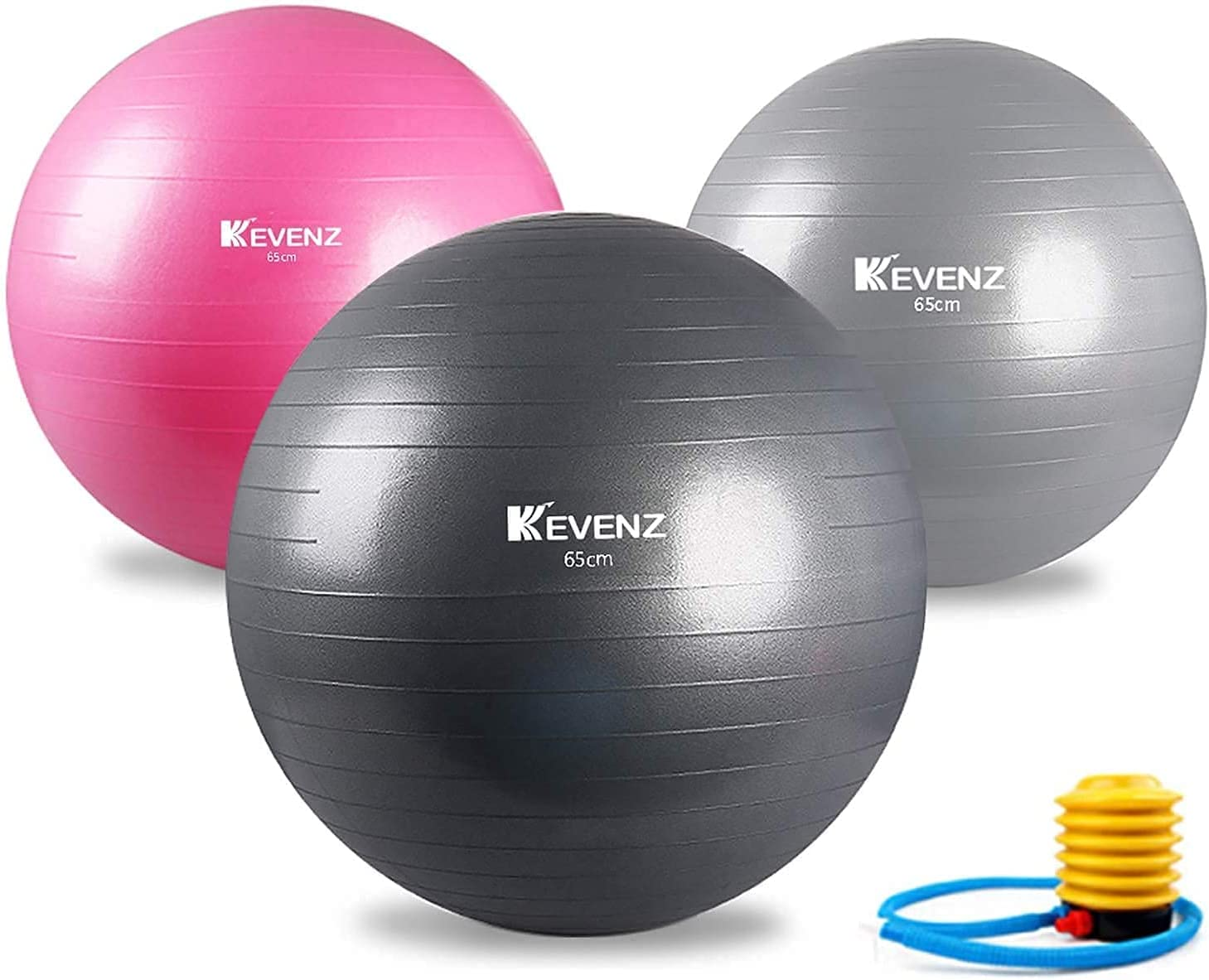 KEVENZ Ranking TOP8 Exercise Ball 65cm Yoga Pum with Quick Fees free!! Balance