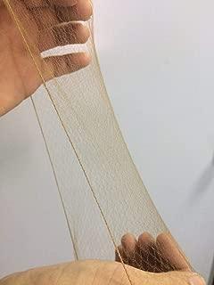 KKTOCHVC 15pcs 20 Inches Reusable Hair Nets Invisible Hairnets Elastic Edge Mesh 50cm (Light Coffee)