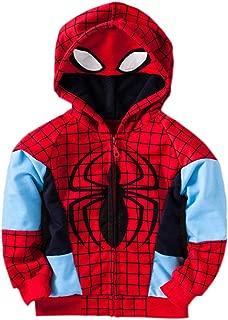 spiderman boys' zip-up hoodie