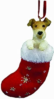 Wire Fox Terrier Stocking Ornament