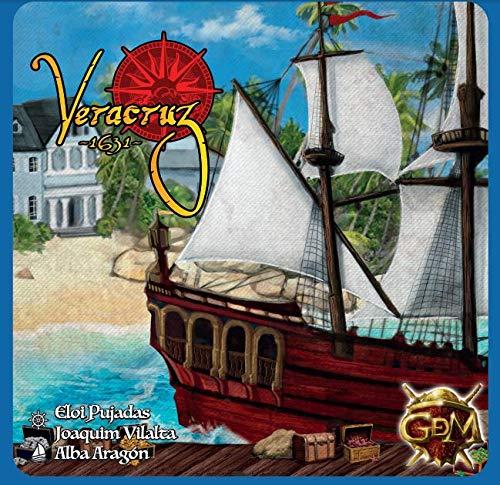 GM Games- Juego de Tablero y Cartas Veracruz 1631, Color Azul (GDM...