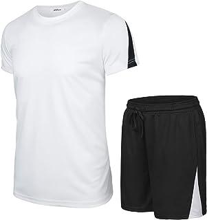 Aibrou Vêtements de Sport pour Homme - T-Shirt Sport en Coton Fitness Vêtement Maillot Manche Courte T-Shirt Homme pour Sp...