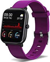 FirYawee Fitness Tracker, Smart Watch for Android Phones,Touch Screen IP68 Waterproof Smartwatch with Heart Rate Monitor Sleep Monitor, Step/Distance/Calorie Counter Fitness Watch for Women Men