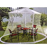 FGDSA Canopy Patio Umbrella Mosquitera/Mosquitera y recinto de Red con Bolsa de Transporte, 335cm220cm