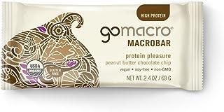GoMacro Organic Macrobar, 2 oz bars, Peanut Butter Chocolate Chip, 12 bars