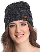 Brook + Bay Cable Knit Beanie for Women - Warm & Cute Multicolored Winter Hats - Thick, Chunky & Soft Stretch Knitted Caps for Cold Weather - Stylish & Trendy Snow Beanies for Ladies