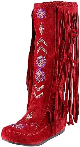 ZHRUI zapatos de otoño con Cremallera y Botines de tacón Alto para mujer (Color   rojo, tamaño   3.5)