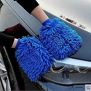 BlueCare Automotive Premium XL Car Wash Mitt - 2-Pack - Free Polishing Cloth, High Density, Ultra-Soft Microfiber Wash Glove, Lint Free, Scratch Free - Use Wet or Dry,