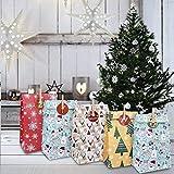Faraone4w 24 Pcs DIY Calendario De Adviento Navidad,Bolsas De Regalo Navidad,Papel Regalo Bolsas con Pegatinas,para Fiesta Dulces Galletas Chocolates DecoracióN De Regalos