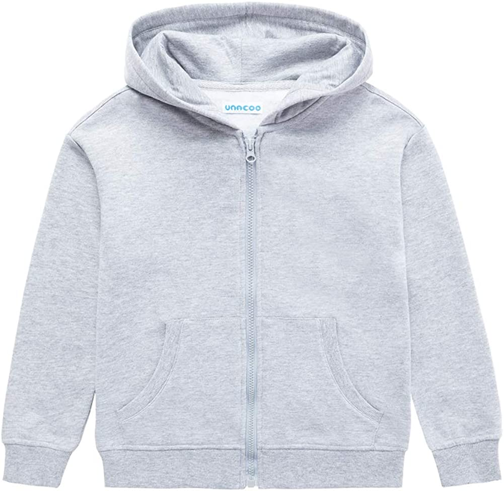 UNACOO OFFicial supreme mail order Kids Boy's and Girl's Soft Age Fleece Zip-Up Hoodie Full