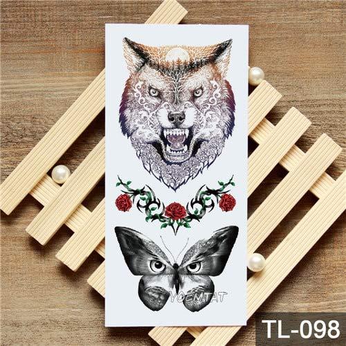 HXMAN 5pcs transfert de l'eau aquarelle renard panda autocollant de tatouage temporaire animaux géométriques motif Body Art imperméable à l'eau flash tatouage Tl-005 19