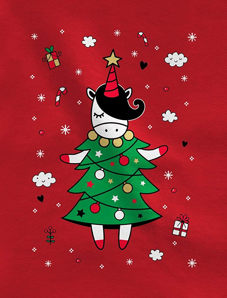 Tstars Unicorn Xmas Tree Dress Cute Ugly Christmas Toddler//Kids Sweatshirt