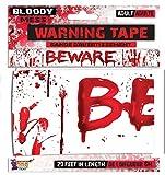 Forum Novelties X79041 Blutiges Flatterband, Rot/Weiß, Einheitsgröße -