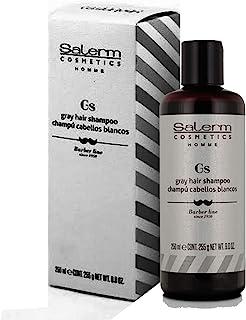 Champú cabellos blancos 250ml Salerm barber line
