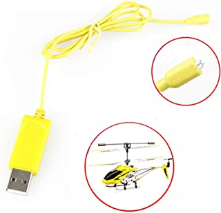 Dacawin RC Helicopter Syma S107 S105 USB Mini Charger Charging Cable Parts (Yellow)