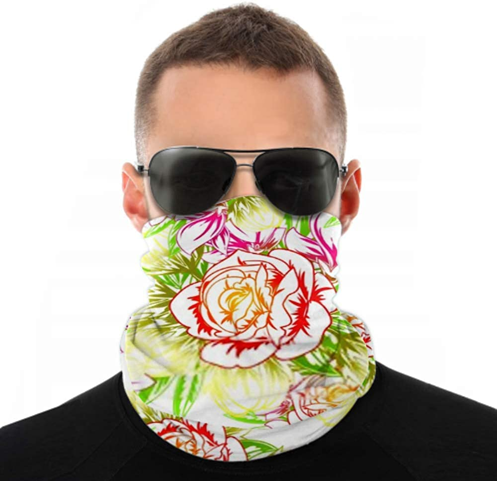 Headbands For Men Women Neck Gaiter, Face Mask, Headband, Scarf Abstract Elegance Seamless Pattern Floral Background Turban Multi Scarf Double Sided Print Scarf For Sport Outdoor