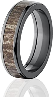 Bottomland Camo Mossy Oak Rings, Camouflage Wedding Bands & Rings