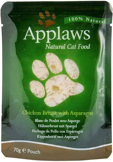 Applaws - Comida humeda para Gatos Gato Pouch Pollo y esparrago 70 gr