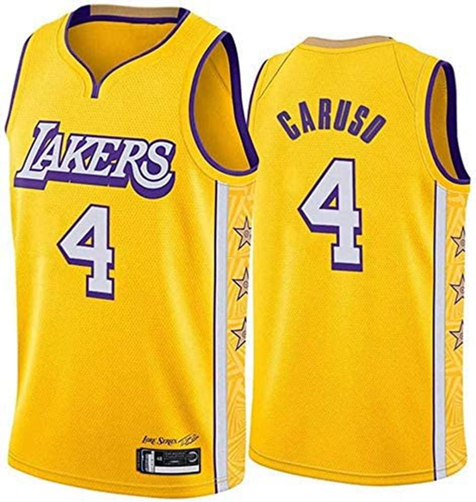 Los Angeles Lakers # 4 Alex Caruso Basketball Jersey Unisexe Manches Maillots,A,S Basket-Ball en Tulle brod/é Fan Jersey NBA Chandails pour Hommes 165~170CM//50~65KG
