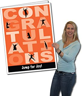 VictoryStore Jumbo Greeting Cards:  Huge Congratulations Card (Jump for Joy)   2' x 3' Card with Envelope