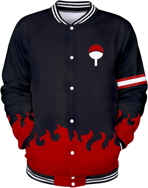 SIAOMA Naruto Bomber Jacket Japanese Anime Varsity Coat 3D Print Baseball Uniform For Boys Girls